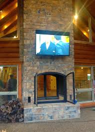 wood burning outdoor fireplaces custom see through wood burning indoor outdoor fireplace outdoor view wood burning
