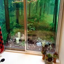 ... Decorating basement window wells ...