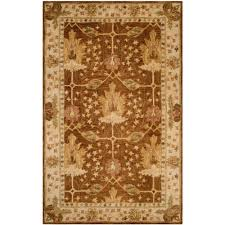 safavieh antiquity 5 x 8 hand tufted wool rug in brown and beige rugs carpets best canada