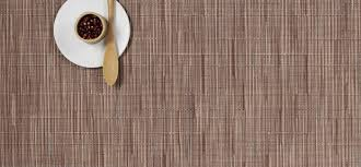 chilewich  red brick placemats  bamboo rectangle