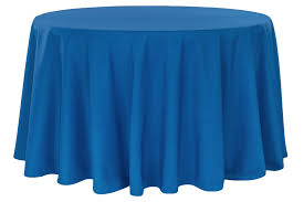 economy polyester tablecloth 120 round royal blue