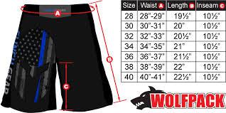 Venum Shorts Size Chart Clinch Gear Pro Series Shorts Thin Blue Line