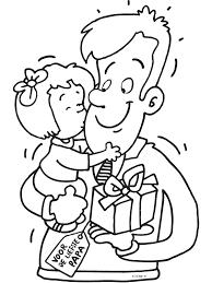 Kleurplaat Kus Voor Papa Kleurplatennl Thema Vaderdag Dia