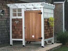outdoor shower enclosures home depot frameless