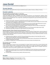 education in resumes special education sample resumes military bralicious co