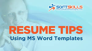 Resume Editing Tips Use Resume Templates In Microsoft Word Youtube