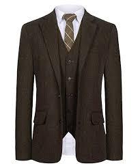 Mens Suit Size Chart Us Cmdc Men Suit Slim Fit Tweed Wool Blend Herringbone Vintage Tailored Modern Fit Suit