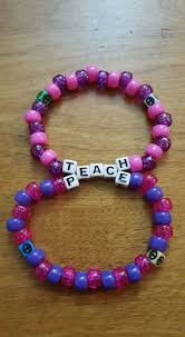 Kandi Patterns Classy Teach Peace Double By LadyRaveicorn Kandi Photos On Kandi Patterns