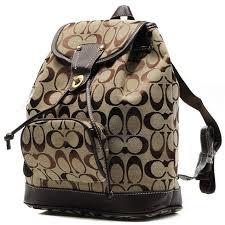 Coach Classic In Signature Medium Khaki Backpacks CBK