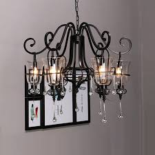 chandelier blc396 1 inspiring black wrought iron chandelier with crystals