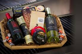 randazzo fresh market gourmet gift basket with wine and cheeses