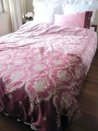 duvet cover dusty pink burdy damask print king full queen twin xl college dorm apink set