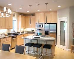 maple cabinets with bamboo floor