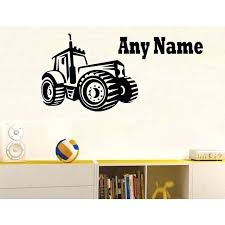 farm wall decals wall decals personalised farm tractor vinyl wall sticker any name bedroom kids art