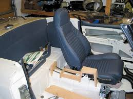 dave also made all of his interior panels out of leather and it looks like a custom center console is in the works too