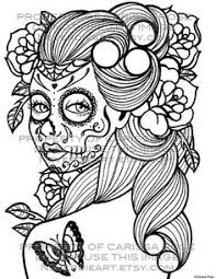 Small Picture This is Girl Sugar Skull Coloring Pages American Things Coloring