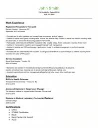 Sample Resume For Therapist Respiratory Therapist Resume Objective Examples Examples Of Resumes 2