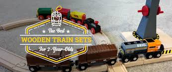 the best wooden train sets for 2 year olds