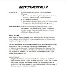 Recruiting Plan Template Sample Recruitment Plan Template Recruiting Checklist