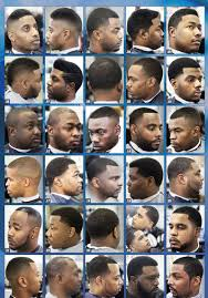 Black Men Haircuts Chart Impressive Barber Shop Haircut