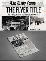 1 Page Newspaper Template Ai For 9 00 Flyer Flyerdesign