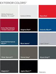 2019 F150 Color Chart Ford F150 Forum Community Of Ford