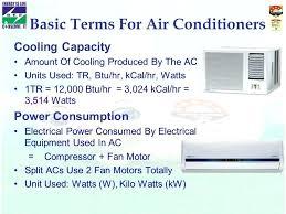 Air Conditioner Energy Consumption Per Hour Wattage Unit