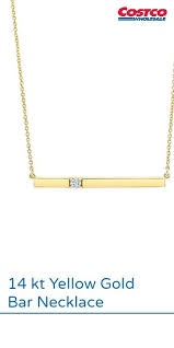 gold bar necklace costco jewelry