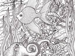 Small Picture Hard Coloring Pages Fish Coloring Pages