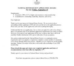 National Honor Society Sample Recommendation Letter Preview Thumbnail Njhs Essay Help National Honor Society