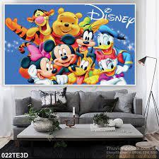 Tranh 3D trẻ em vịt Donald