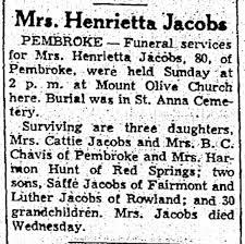 Henrietta Jacobs Obituary - Newspapers.com