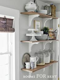 open kitchen wall shelves home decorating ideas style