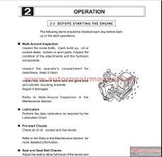 Mini Excavator Size Chart Ihi 15vx Hydraulic Mini Excavator Operation Manual Auto