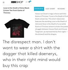 Hboshop O Love Is The Death Of Duty Black Overview Size