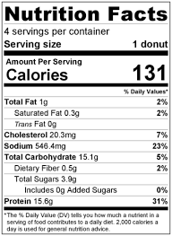 Dunkin Donuts Nutritional Value Chart Power Donut Nutrition Facts