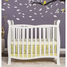 dream on me piper 4 in 1 convertible mini crib in white