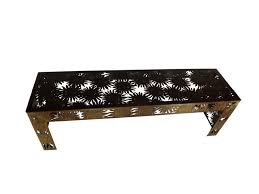 sunflower metal garden bench seat