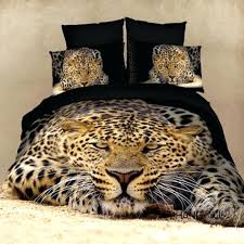 leopard comforter set animal print bedding queen size tiger horse duvet covers bed sheet sets cotton home textile in from red