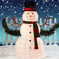 Sumptuous Design Ideas Outdoor Snowman Decorations Christmas Extraordinary  Lighted Home Decorating Interior