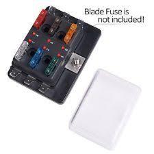 6 fuse block led illuminated automotive blade fuse holder box 6 circuit fuse block 6 way