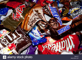 Chocolates Wrappers Assorted Sweet Or Candy Bar Wrappers Stock Photo 26669223