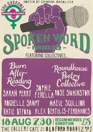 feminism in london tugba kop illustration spoken word flyer fil