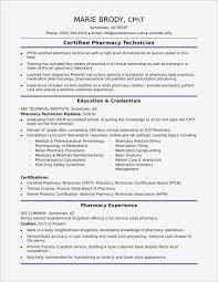 Entry Level Pharmacy Technician Resume Example Resume