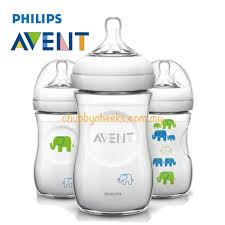 Avent Decorated Bottles Philips Avent Natural Decorated Bottle Green Elephant 100 x 100oz 10