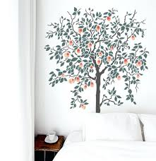 fruit tree stencil leaf stencils for walls jungle model