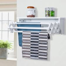 wall mounted folding clothes towel