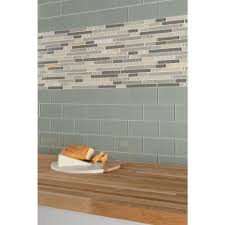 bliss mosaic tile new bliss silver aspen quartzite linear blend glass mosaic 12in x image