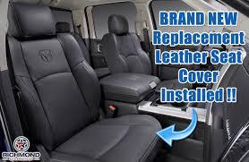 2009 2010 2016 2016 dodge ram laramie passenger side bottom replacement leather seat cover gjdv 9