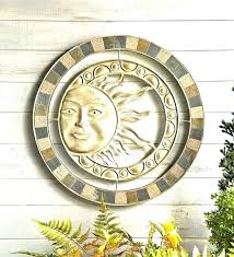 outdoor wall plaques metal outdoor wall hangings metal ceramic sun wall art metal and stone sun wall art in patio outdoor wall metal artwork